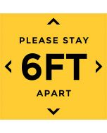 Please Stay 6FT Apart - Social Distancing Sticker