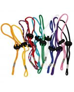 Adjustable Wrist Lanyards in Orange, Yellow, Red/White/Blue, Red, Teal, Green, White, Royal Blue, Purple, Pink & Black