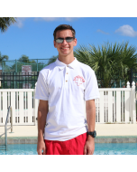 Lifeguard Jersey Polo White with Lifeguard Red Text