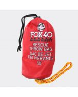 Front of Fox 40 Marine 50' Rescue Throw Bag  in Lifeguard Red
