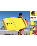 Lifeguard Carrying the Red/Yellow 10 ft Softie Rescue Board on the Beach