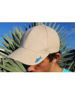 Tan Gray Ghost Fly Fishing LED Cap 3/4ths view
