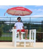 LG 740 - Everondack® Lifeguard Platform Chair in White