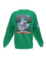 Back of the Surfing Santas 2019 Long Sleeve Shirt
