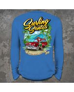 Back of Surfing Santas 2020 Long Sleeve Shirt