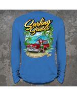 Back of Surfing Santas 2020 Long Sleeve Shirt