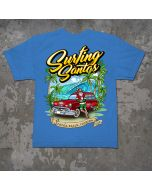 Back of Surfing Santas 2020 Youth Short Sleeve Shirt