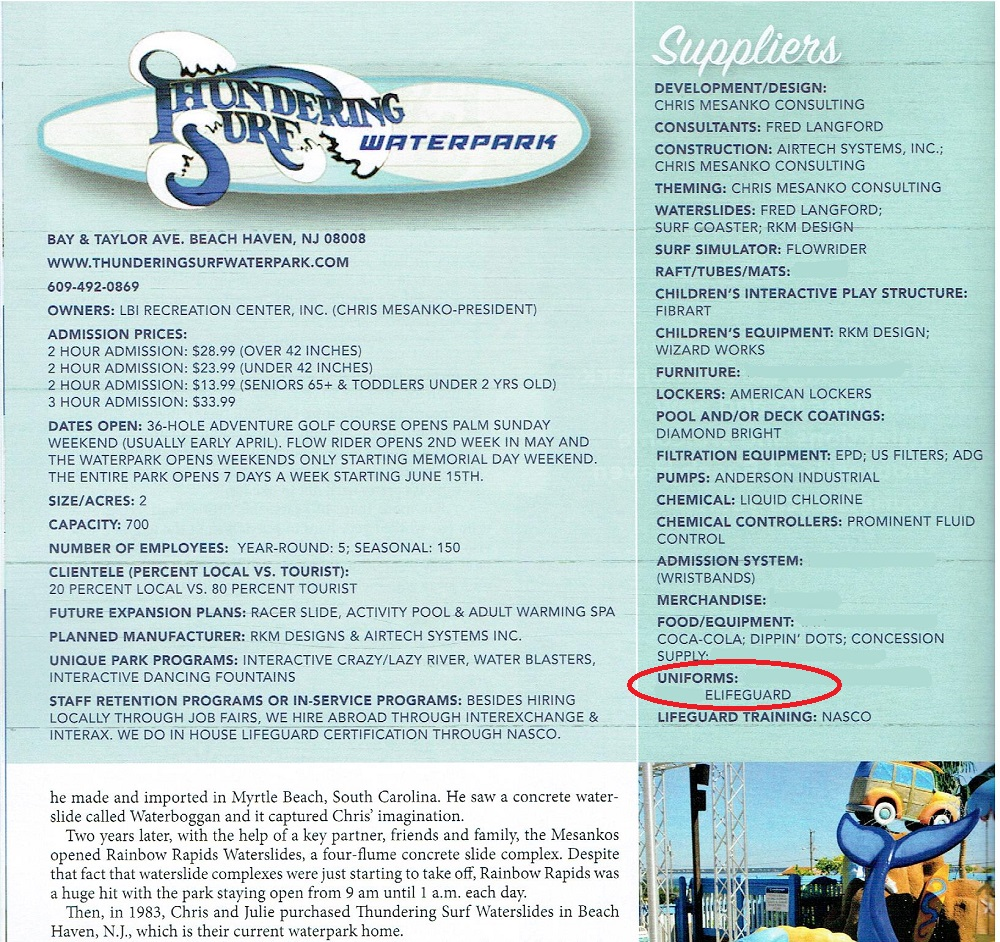 1c218b83f52 The September issue of the World Waterpark Magazine (The Official  Publication of the World Waterpark Association) did a Waterpark Showcase  featuring ...