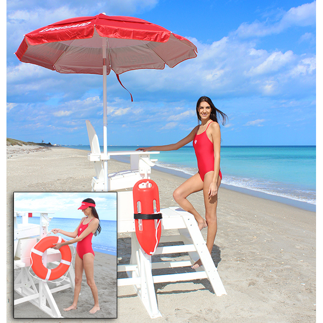 The Hurricane Handeler EVERONDACK® PROSERIES™ MEDIUM LIFEGUARD CHAIR (FRONT  LADDER)   MLG 645