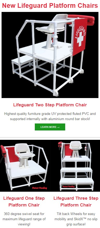 71f37f0dbef Lifeguards from all over are falling in love with the new Portable Lifeguard  Platform Chairs that are creating a lot of buzz for 2019!